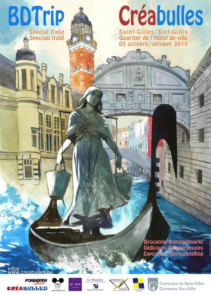 Affiche BDTrip Italie 2015 Créabulles