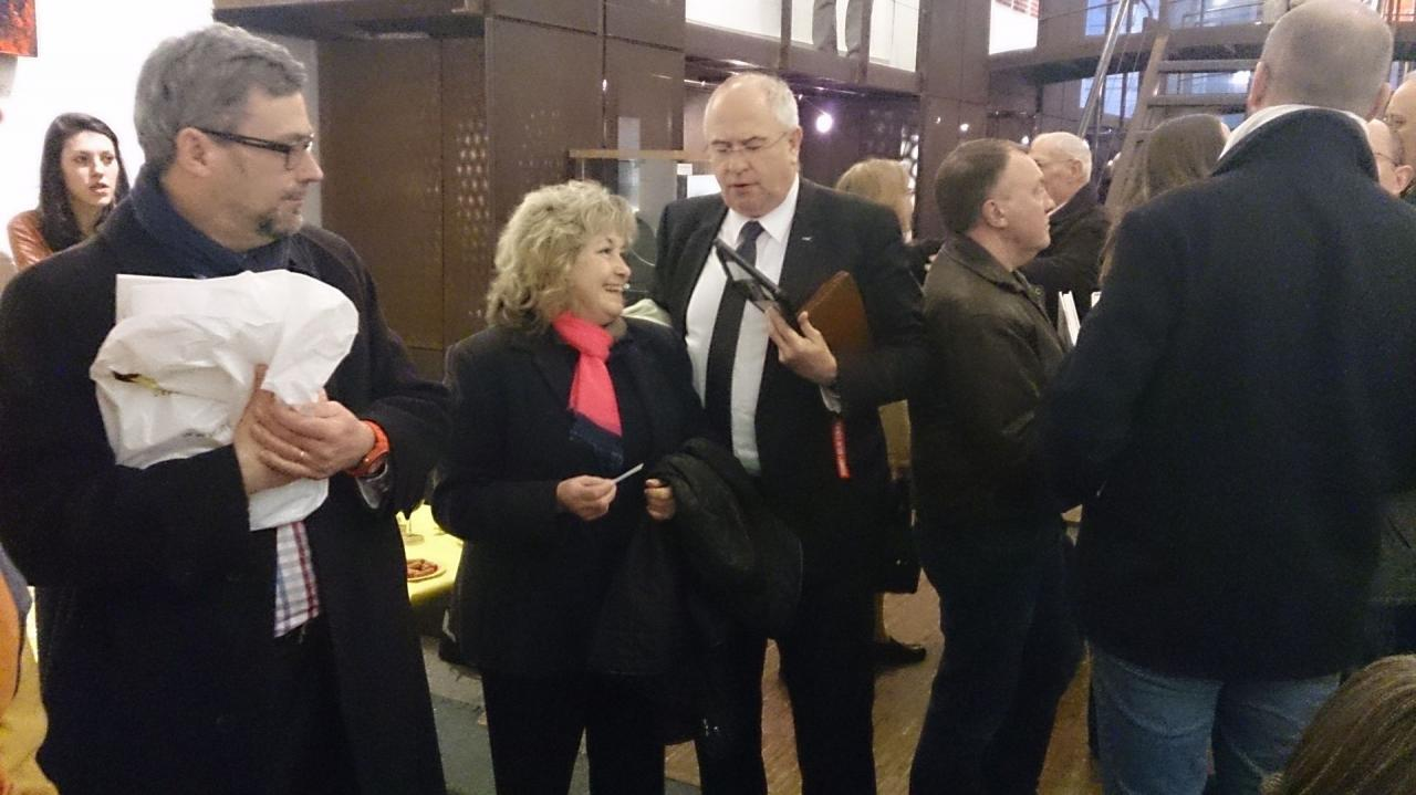 Dédicace avec couple allemand