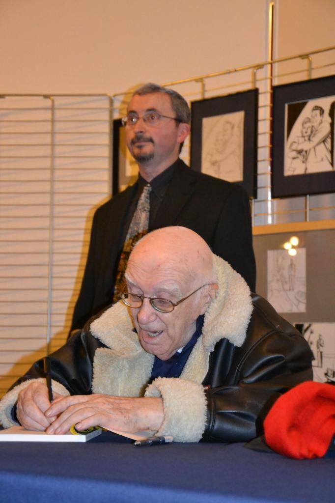 Expo Bob Morane. M. Vernes avec Juan
