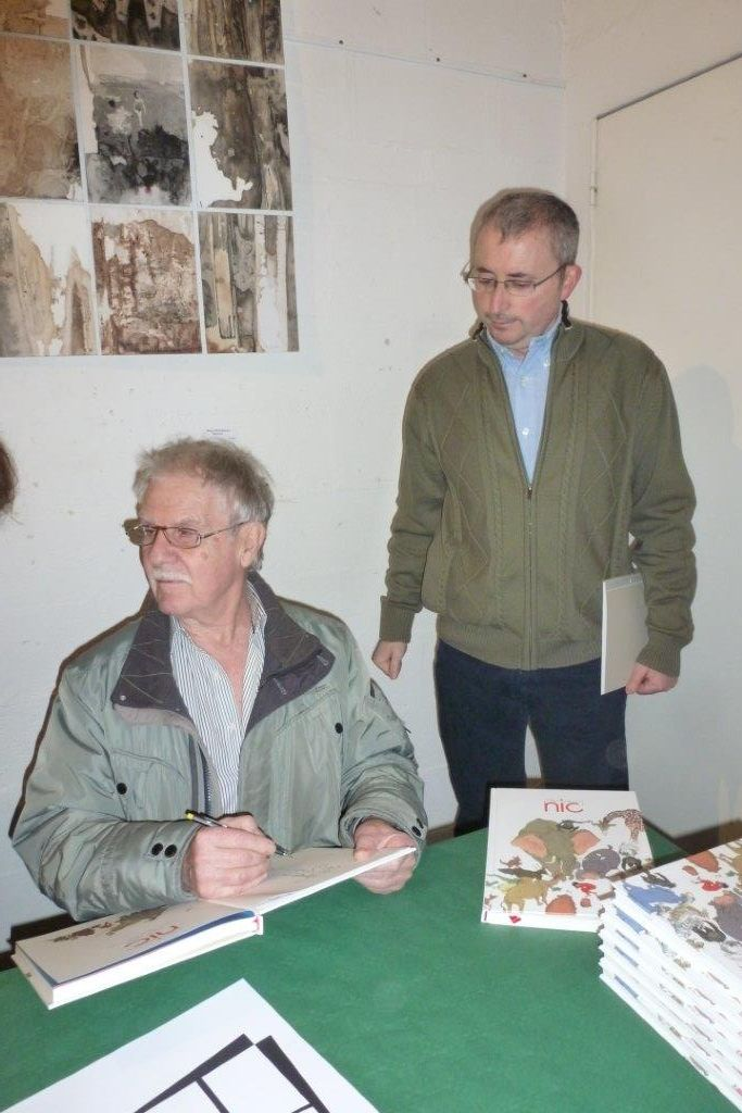 Hermann et Juan debout