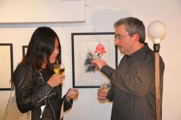 Explicatifs de l'expo à une japonaise intéressée par ces auteurs
