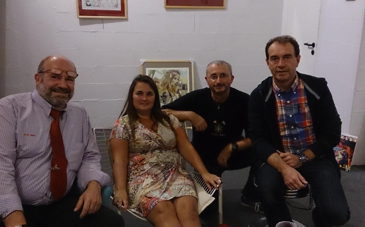 André, Delphine, Juan et Thierry