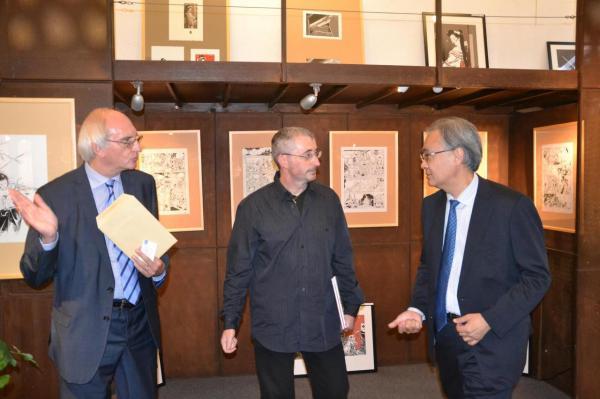 Mr Debouverie, Juan et S. E. Monsieur l'Ambassadeur de Japon