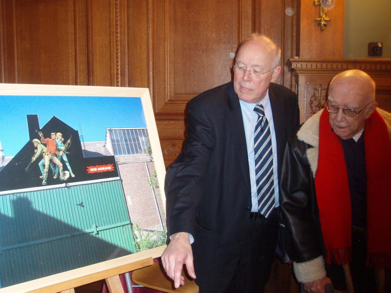Le projet de la fresque dévoilé avec MM Picqué et Vernes