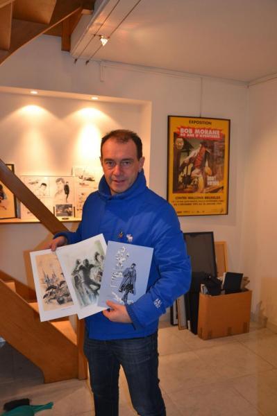 Thierry avec des ex-libris