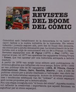 A las revistas del boom del comic