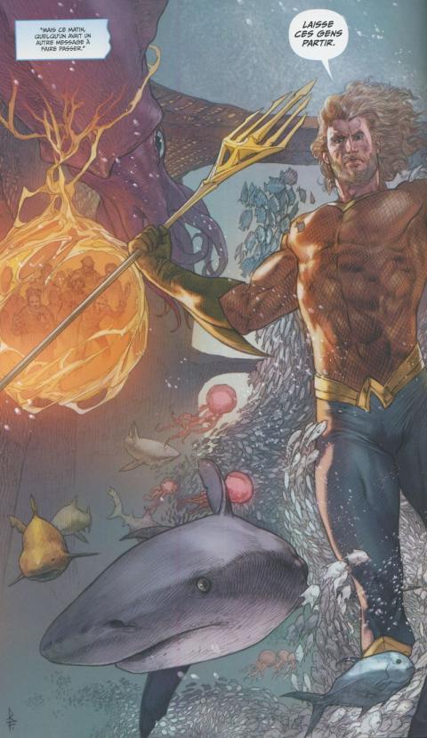 Aquaman rebirth 4 detrone planche
