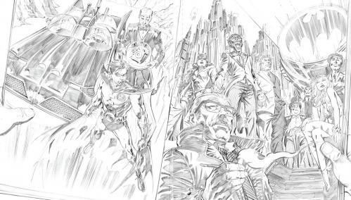 Batman les derniers jours crayonnes