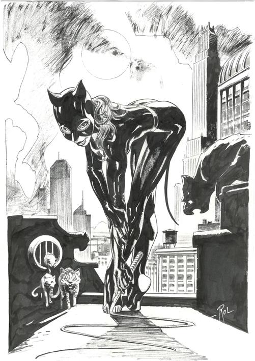 Ex-Libris Catwoman par Roland Boschi