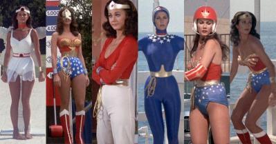 Differents costumes de Lynda Carter tout au long des feuilletons