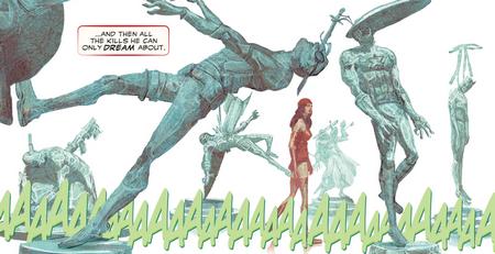 Elektra 100 marvel 2e serie cartonne image morts