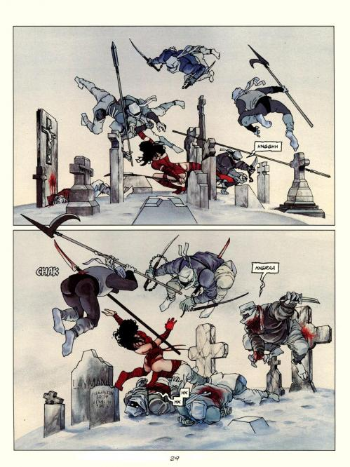 Elektra renait a la vie planche ninjas