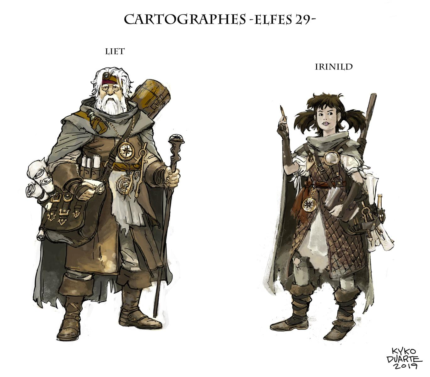 Elfes 29 personnages