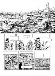 Elfes 29 planche n b dessins de Giovanni Lorusso