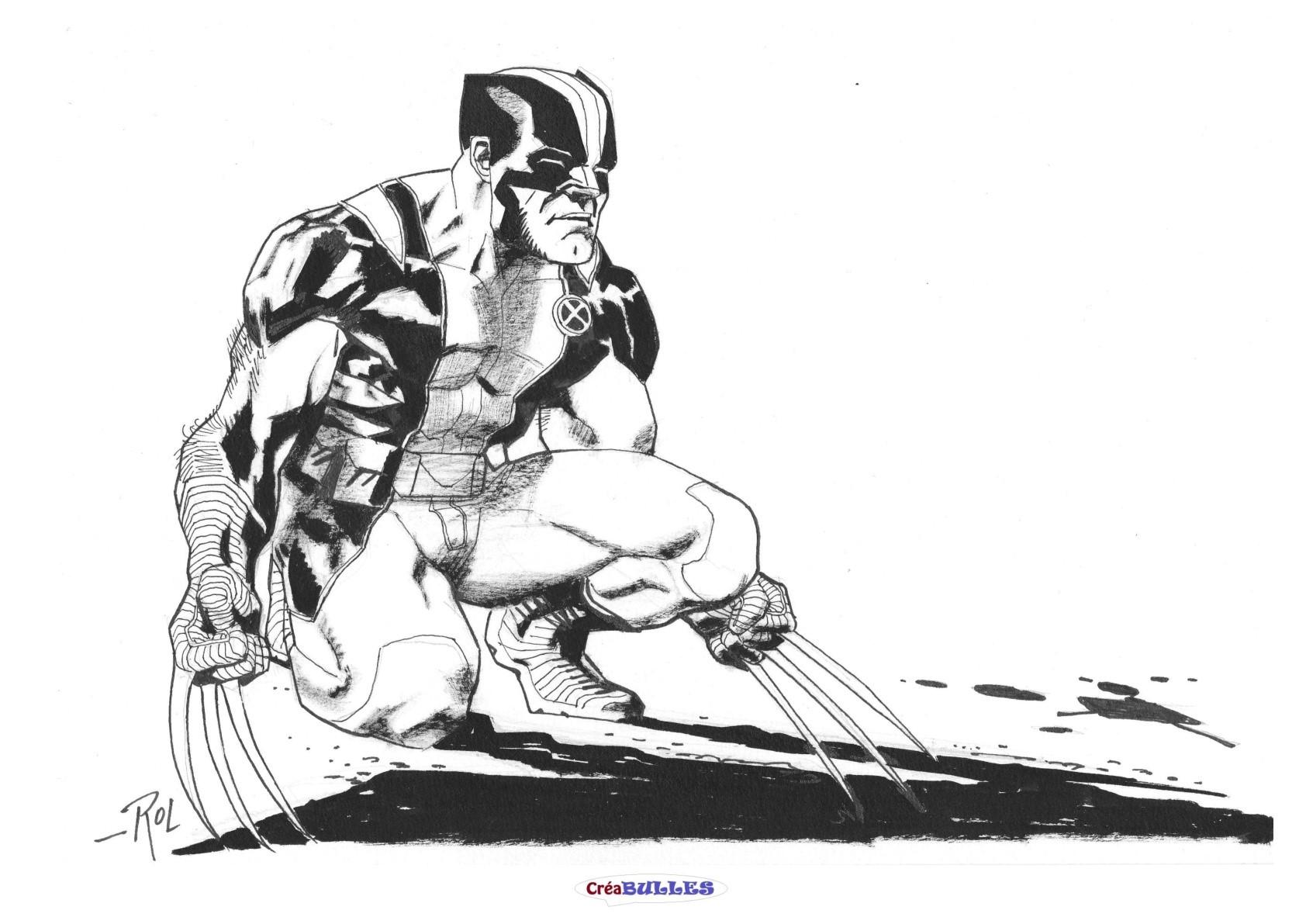 Ex-Libris Wolverine par Roland Boschi