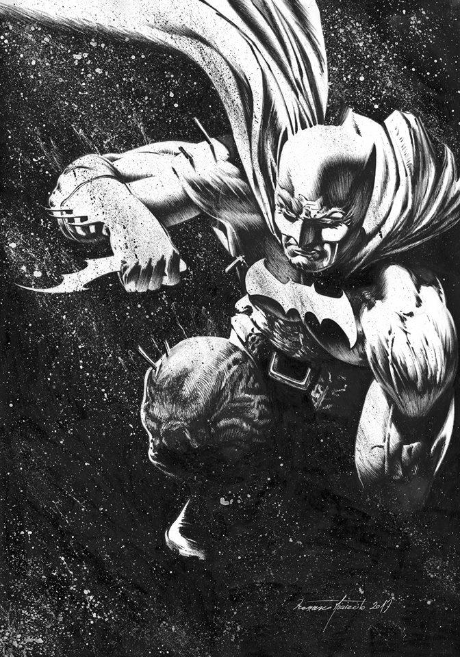 Ex-Libris Francesco MUCCIACITO Batman