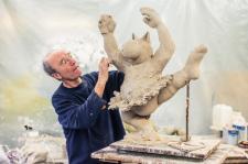 Geluck et la sculpture du chat