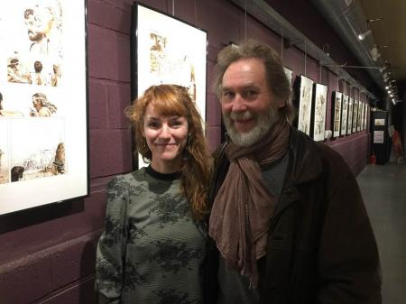 Geraldine bindi et christian rossi a l expo slumberland a wavre