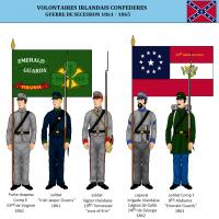 Guerre de secession irlandais dans la confederation