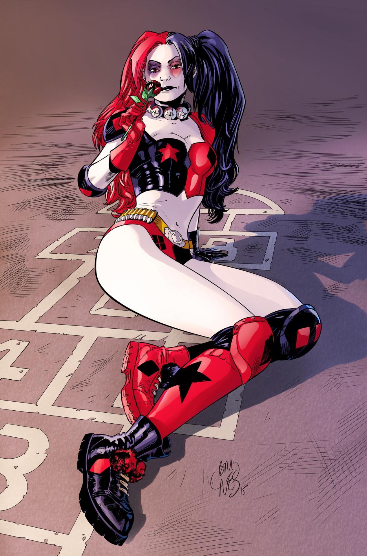 Ex-Libris Harley Quinn par Philippe Briones