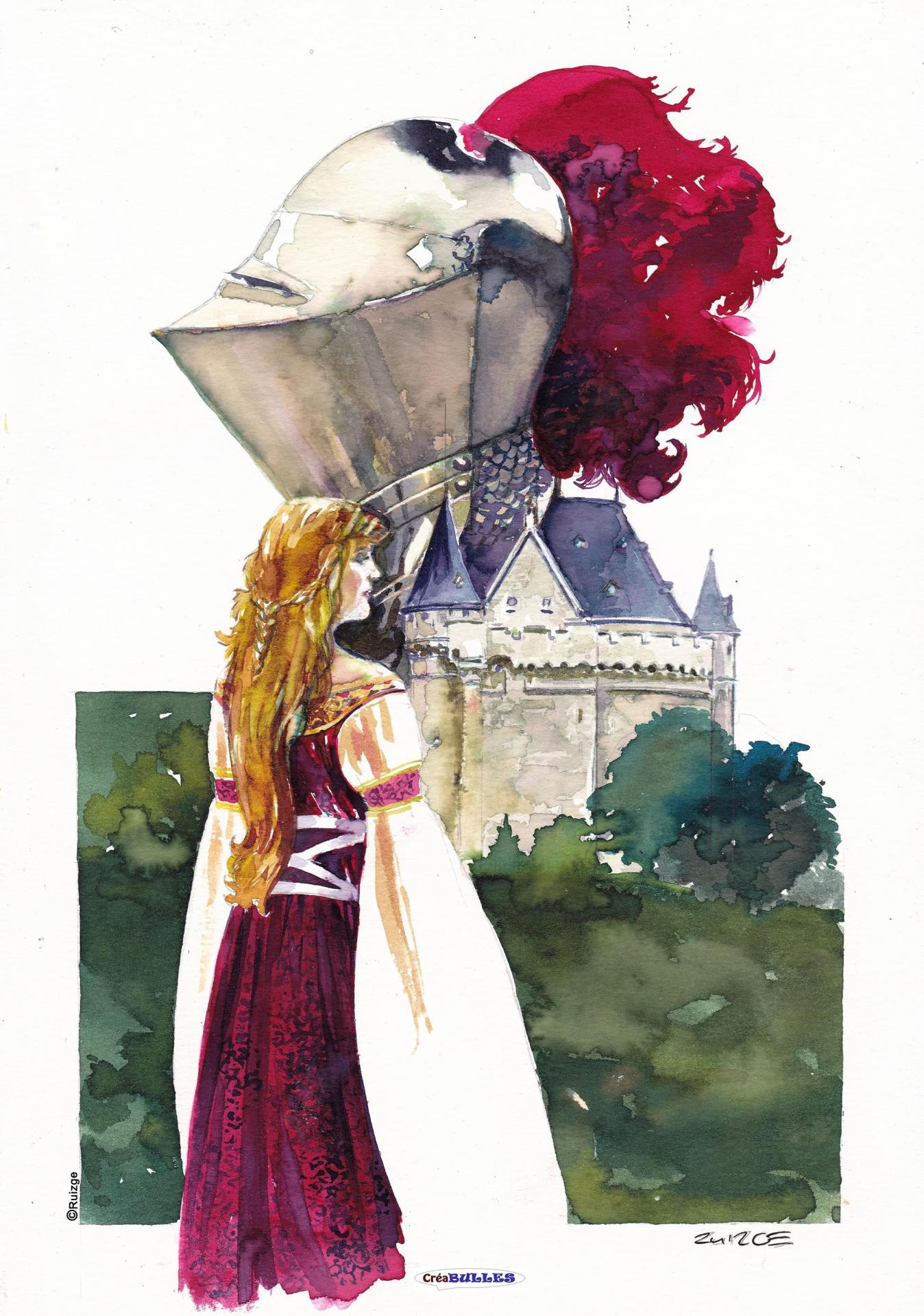 Ex-Libris  Princesse à St-Gilles par Francisco Ruizgé
