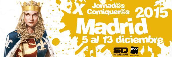 Jornadas comiqueras madrid 2015 banniere