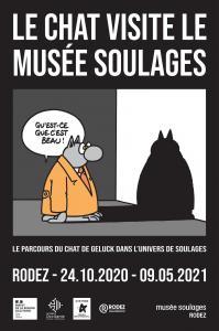 Le chat visite le musee soulages