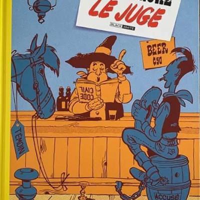 Lucky Luke le juge b & w