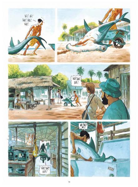 Maitre des crocodiles planche requin marteau
