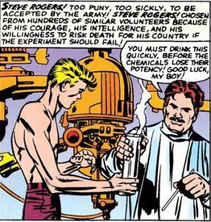 Steve rogers et le serum du super soldat