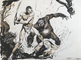 Tarzan combattant un gorille 160€