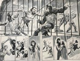 Tarzan on the planet of the apes double page prison