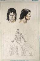 Tarzan portraits et crayonné à 140€