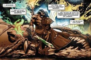Wolverine et Hercule enlacés