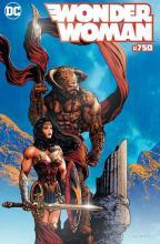 Wonder woman 750 comic stop liam sharp variant cover pour la librairie comics stop